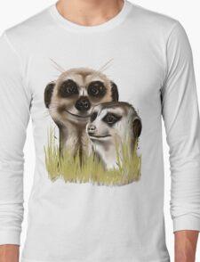 Two Meerkats in grass T-Shirt
