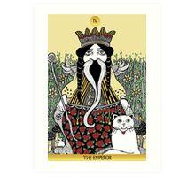 The Emperor (Tarot of the Roses)  Art Print