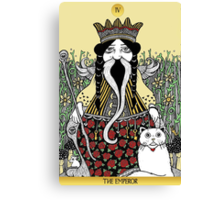 The Emperor (Tarot of the Roses)  Canvas Print