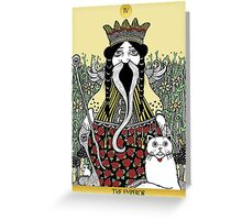 The Emperor (Tarot of the Roses)  Greeting Card