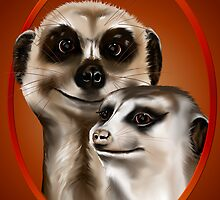 Two cozy Meerkats  by Lotacats