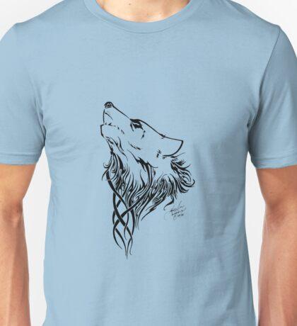 Tribal Wolf Blue Unisex T-Shirt