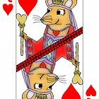 Flirting Rat Queen of Hearts by SeaSerpent
