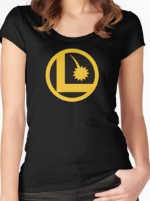 Legion of Super-Heroes Logo Women's Fitted Scoop T-Shirt