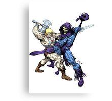 Heman versus Skeletor Canvas Print