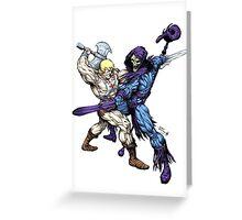 Heman versus Skeletor Greeting Card