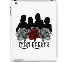 Haven Team Parker Sides Of Audrey Black & White Logo   iPad Case/Skin