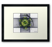 Indigo Percussion Framed Print