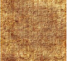 abstract ancient Egyptian pattern by Hujer