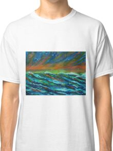 Seagulls over the ocean Classic T-Shirt