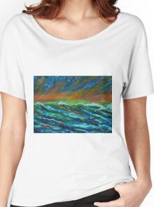 Seagulls over the ocean Women's Relaxed Fit T-Shirt