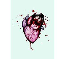 Heart Grenade Photographic Print