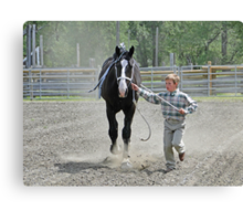 Running For Show II Canvas Print
