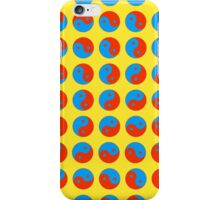Yin Yang Art Pattern Decor Yellow Blue Red iPhone Case/Skin