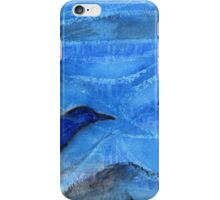 Bird Sailing above Blue Landscape iPhone Case/Skin