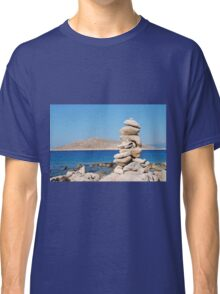 Tower of stones, Halki island Classic T-Shirt