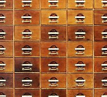 Vintage wooden drawers at the Royal Library in Copenhagen, DENMARK by Atanas Bozhikov NASKO