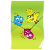 Wacky Bird Hangout Poster