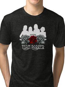 Haven Team Parker Sides Of Audrey White Logo Tri-blend T-Shirt