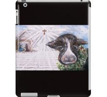 Christmas Cow - Oh to Have Been There... iPad Case/Skin