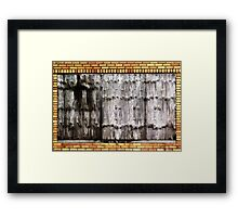 Once Upon a Time, a Window Framed Print