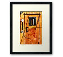 Vintage Yacht Door Framed Print