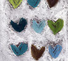 Happy Hearts No. 7 by Tine  Wiggens
