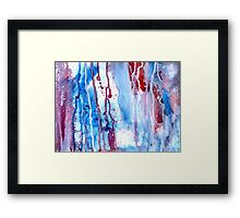 Blood and Water Flowed Framed Print
