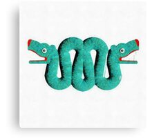 Icons - Aztec Snake by Pierre Blanchard Canvas Print