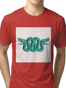 Icons - Aztec Snake by Pierre Blanchard Tri-blend T-Shirt
