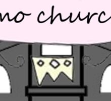 emo church Sticker
