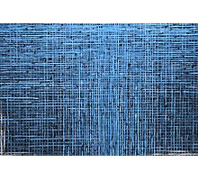 Abstract textured blue background Photographic Print