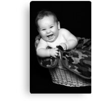 Basket Baby Canvas Print