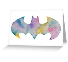 The Bat Watercolor (black) Greeting Card
