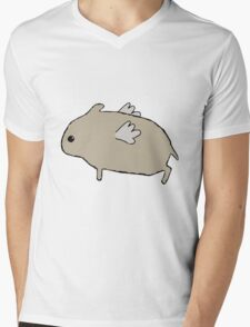 Flying Hamster Mens V-Neck T-Shirt