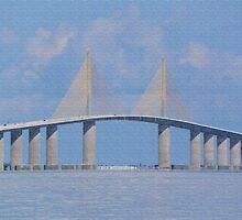 Tampa Bay Bridge by Rosalie Scanlon