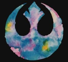 Watercolor Rebel Alliance (black) T-Shirt