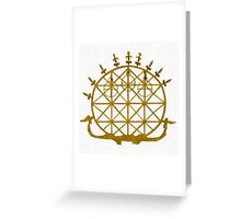 Icons - Hittite Sun God by Pierre Blanchard Greeting Card
