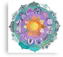Community Mandala - Radiant Lotus Mandala Canvas Print