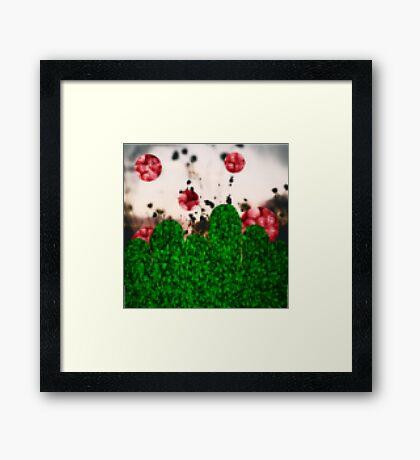 Pixel Berries Framed Print