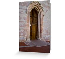 Pink marble and wood Greeting Card