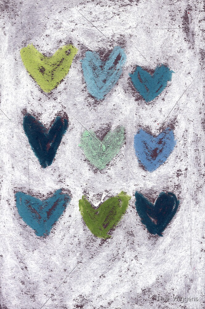 Happy Hearts No. 6 by Tine  Wiggens