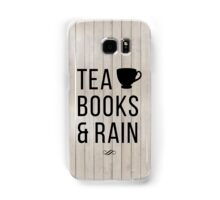 Tea Books & Rain Samsung Galaxy Case/Skin