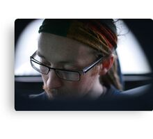 chris, from the passenger seat Canvas Print