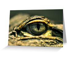 Eye of the Gator Greeting Card