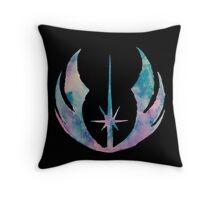 Watercolor Jedi Order (black) Throw Pillow