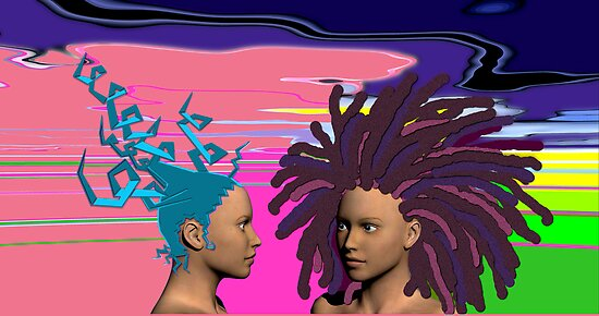 Two Hairdo-da-day-olas by Ann Morgan