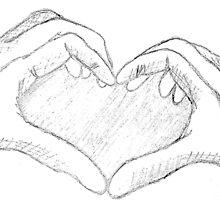 Sketched Hand Heart  by ArtAttaaaccckkk