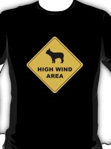 high wind area warning T-Shirt