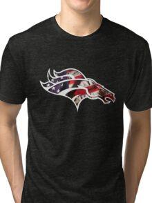 Denver Broncos logo 5 Tri-blend T-Shirt